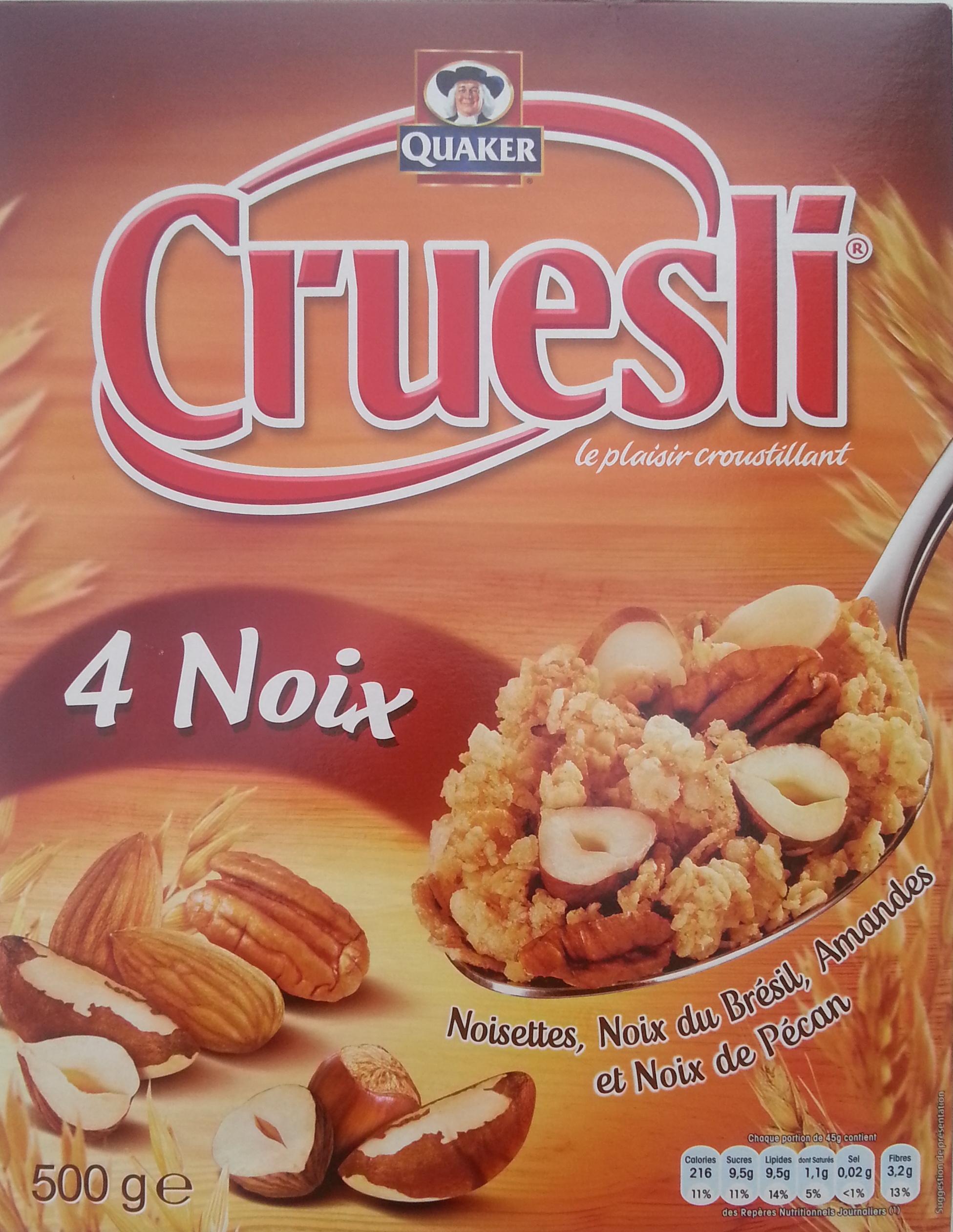Cruesli 4 noix quaker 500 g - Noix de muscade cuisine ...