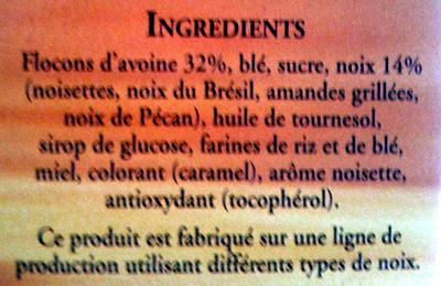 Cruesli, 4 Noix - Ingredients