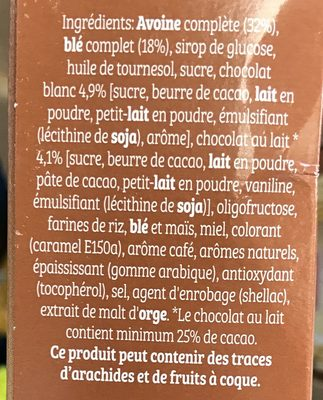 Cruesli Chocolat Cappuccino - Ingredients - fr