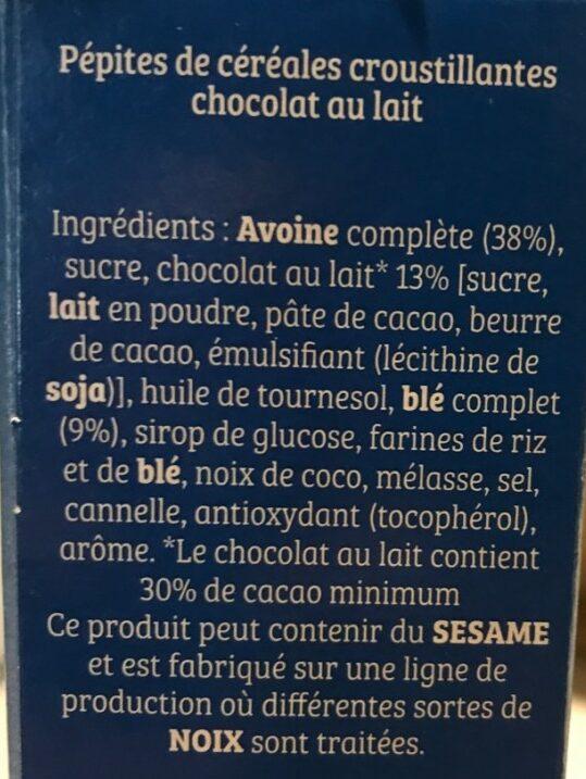 Cruesli chocolat au lait - Ingredienti - fr