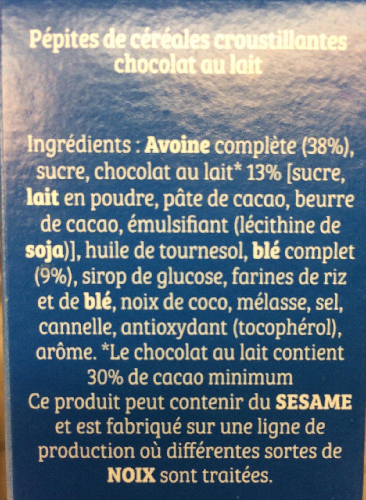 Cruesli - chocolat au lait - Ingrédients - fr