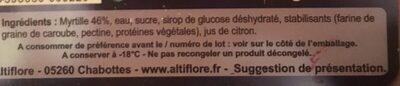 Sorbet Myrtille - Ingrédients - fr
