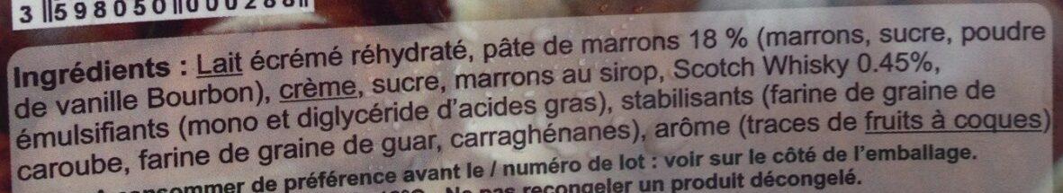 Crème glacée marron 75 - Ingrédients - fr