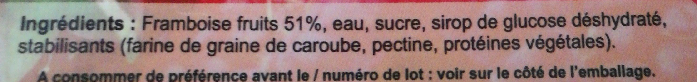 Framboise - Ingrédients - fr
