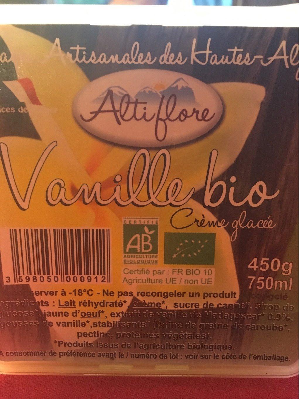 Vanille bio - Informations nutritionnelles - fr