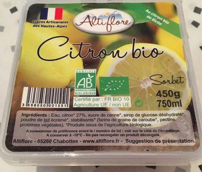 Citron bio - Nutrition facts