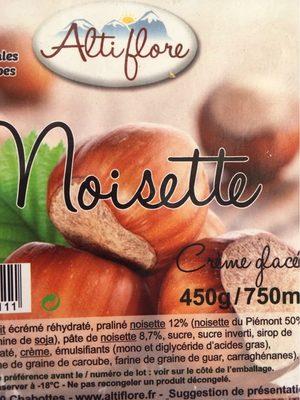 Crème glacée noisette - Produit