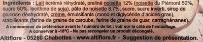Crème glacée noisette - Ingrédients - fr