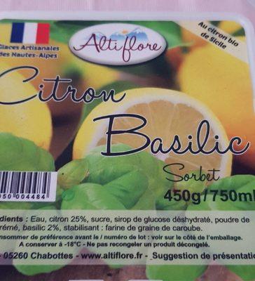 Sorbet citron basilic - Produit - fr