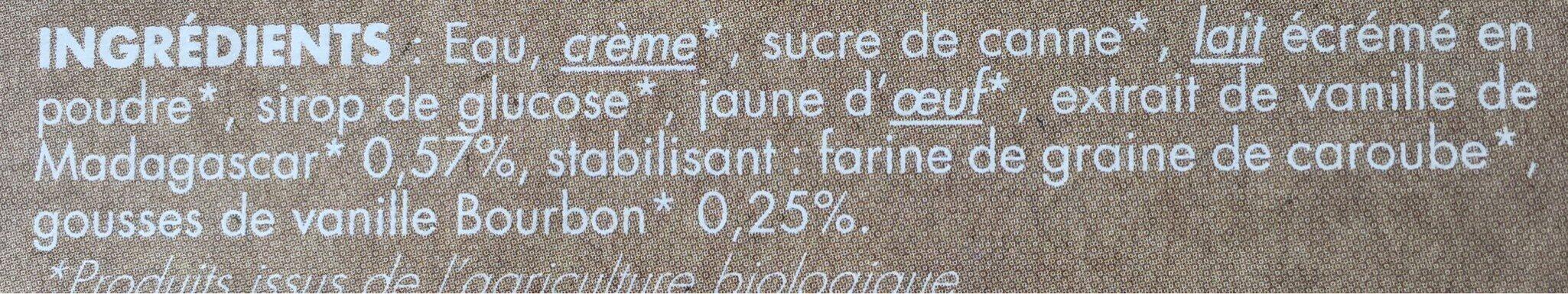 Glace vanille de madagascar Dahu - Ingrédients - fr