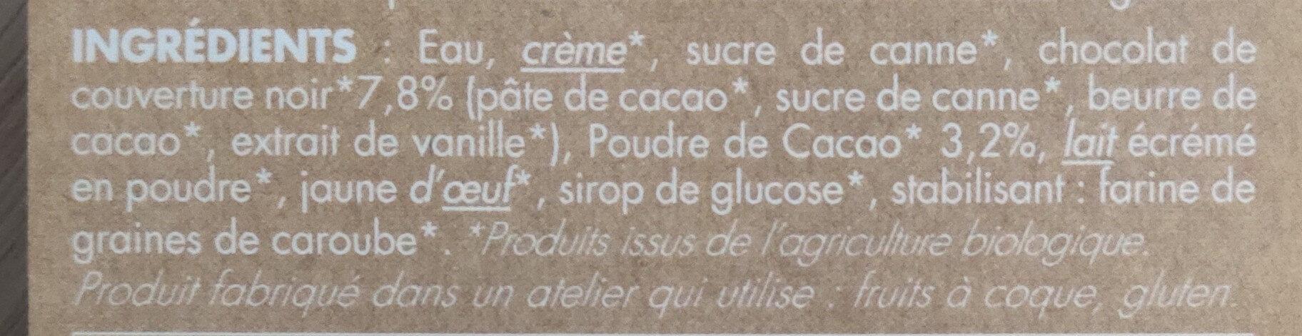Dahu Chocolat - Ingrédients - fr