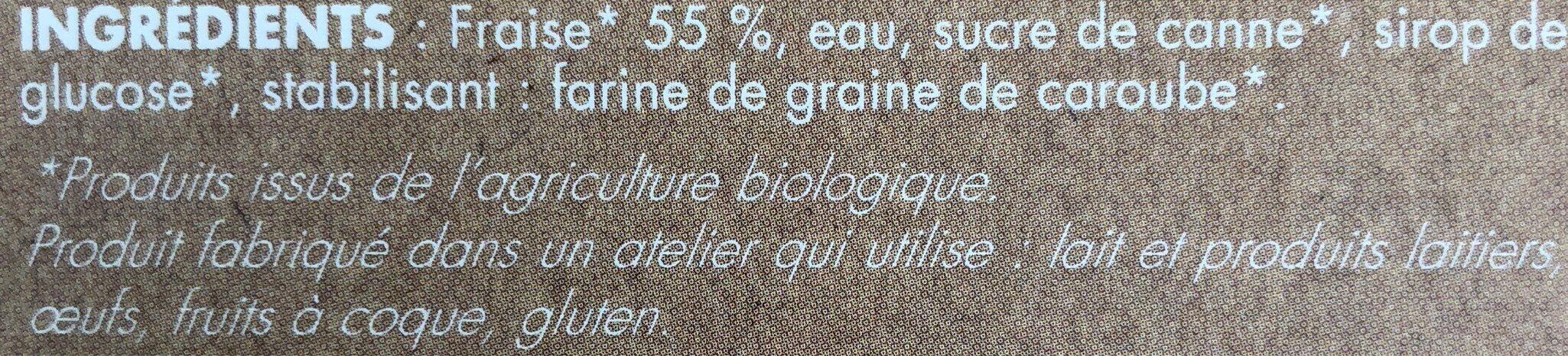 Sorbet Fraise - Ingrédients - fr