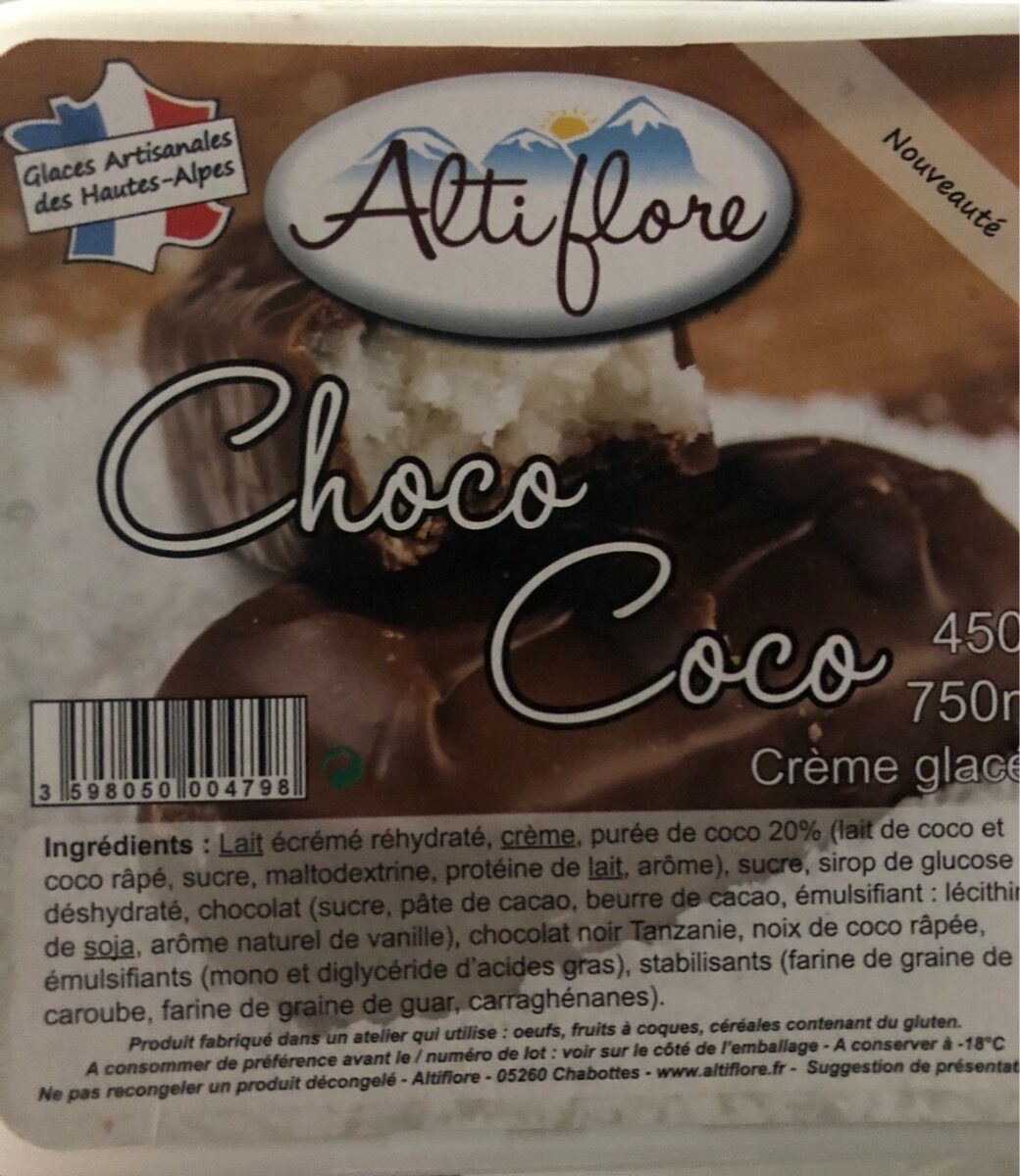 Glace Choco coco - Produit - fr