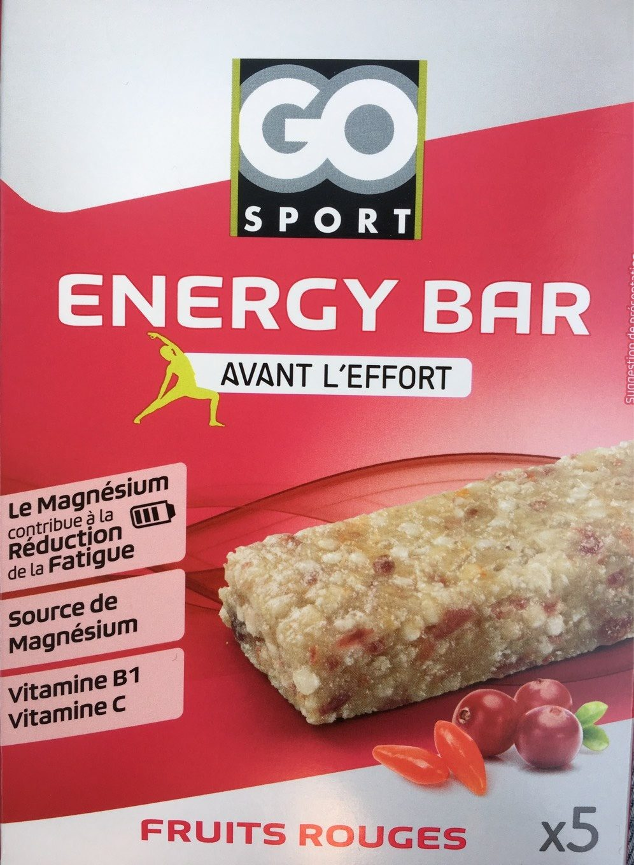Energy bar, fruits rouges - Produit - fr