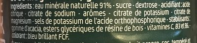 Isotonic Drink - Ingrédients