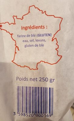 Baguette de Tradition - Ingredienti - fr