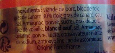 Le fameux Papitou - Ingrediënten - fr