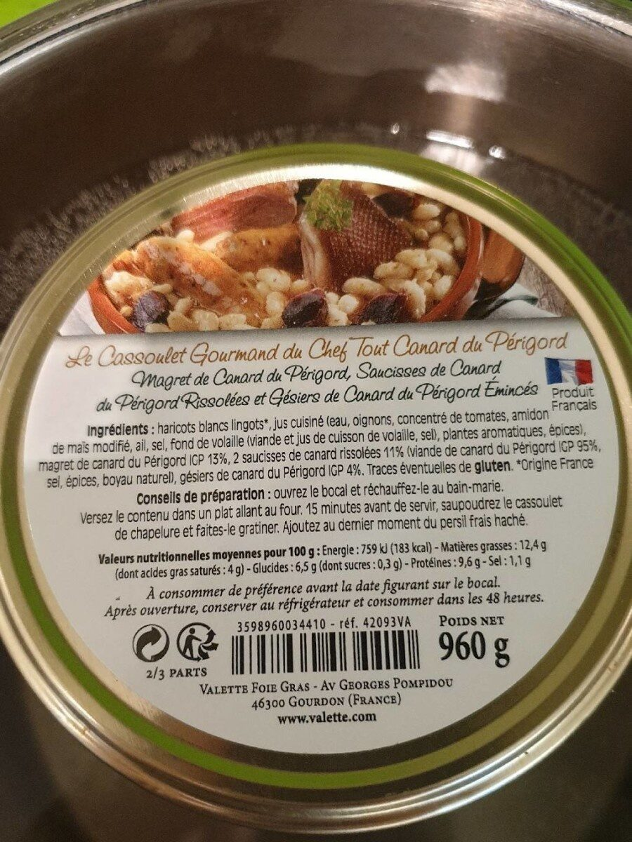 Cassoulet Gourmand - Product - fr