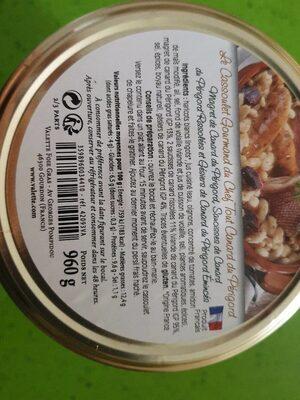 Cassoulet Gourmand - Voedingswaarden - fr