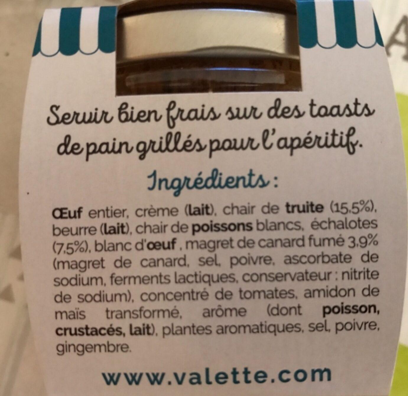 L'en-cas de truite au magret de canard - Ingredienti - fr
