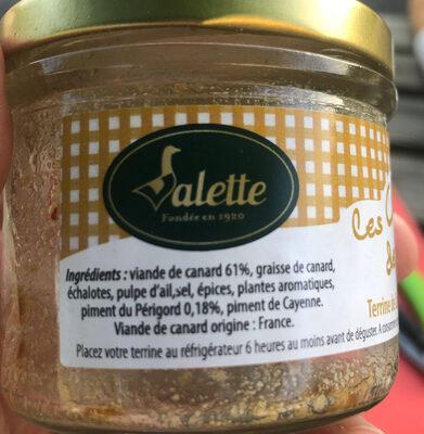 Terrine de canard au piment du Périgord - Ingrédients