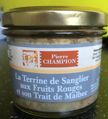 La terrine de sanglier aux fruits rouges et son trait de Malbec - Produit - fr