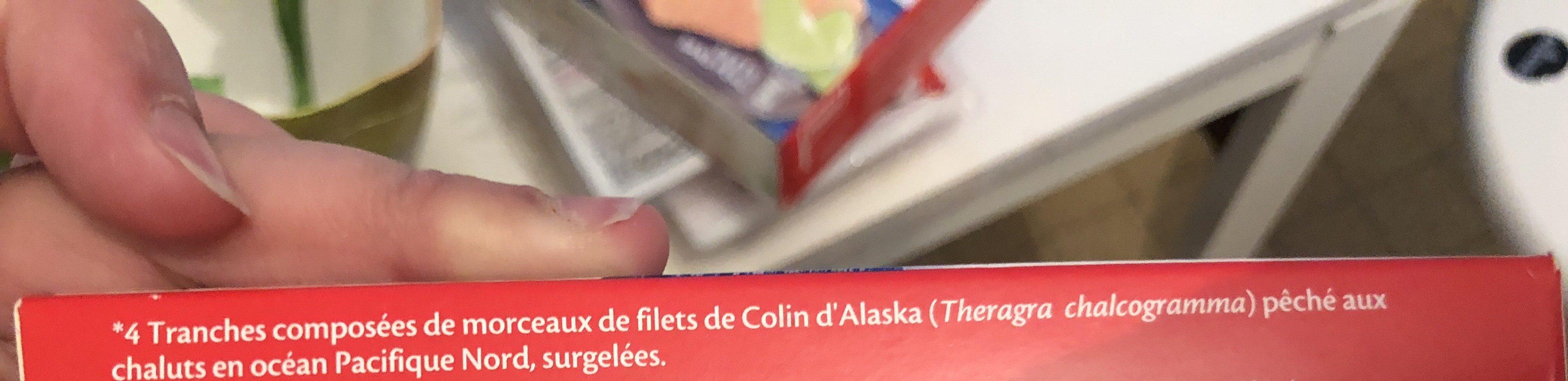 Tranches panées de Colin d'Alaska MSC - Ingrediënten - fr