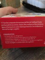 Filet de Cabillaud - Ingrédients - fr