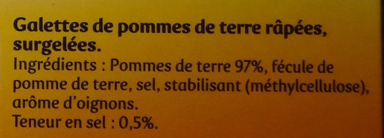 Pommes Croustine - Ingrédients - fr