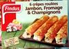 6 Crêpes Roulées Jambon, Fromage & Champignons - Product