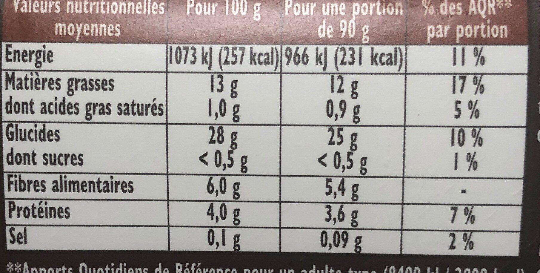 Frites crousti'express la classiqu - Informations nutritionnelles - fr