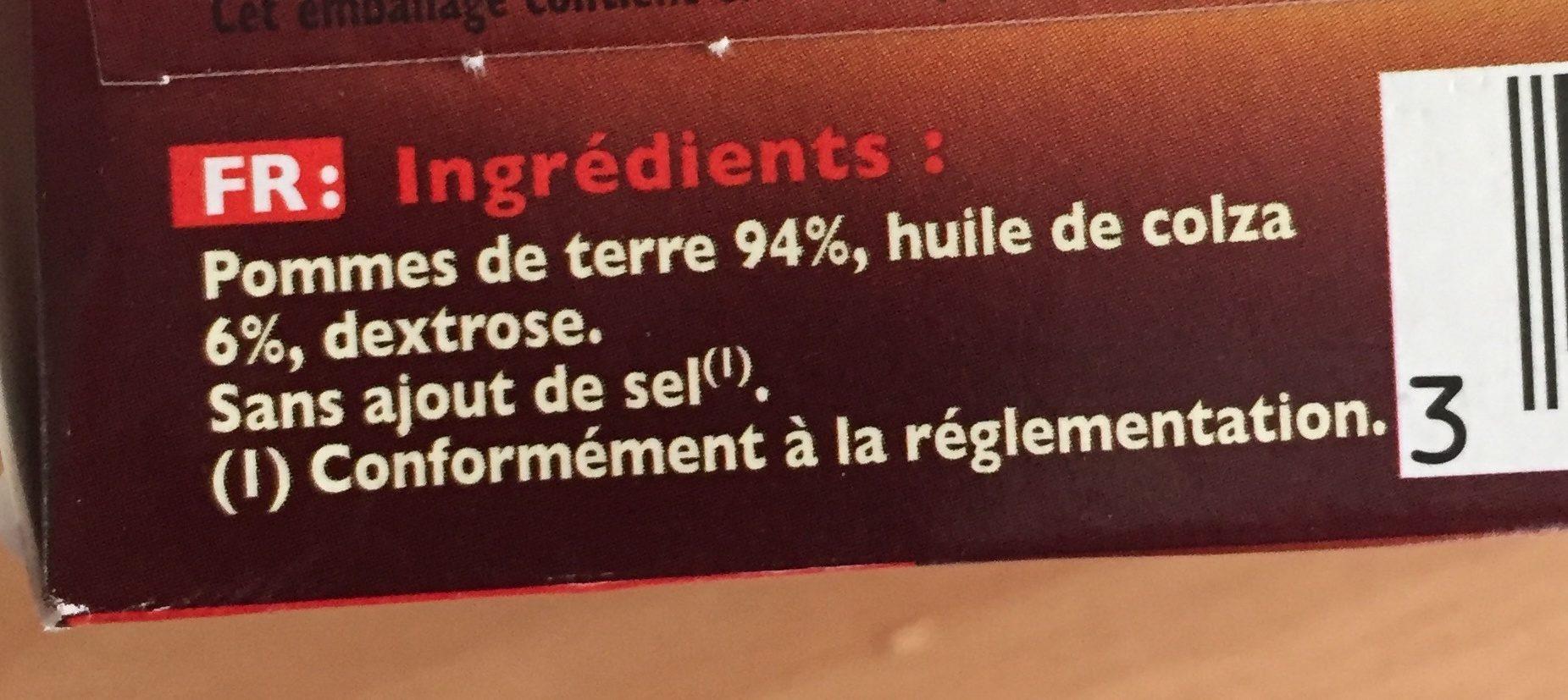 Pommes Rissolées - Ingrediënten