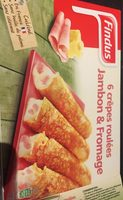 6 crepes roulees jambon et fromages - Produit - fr
