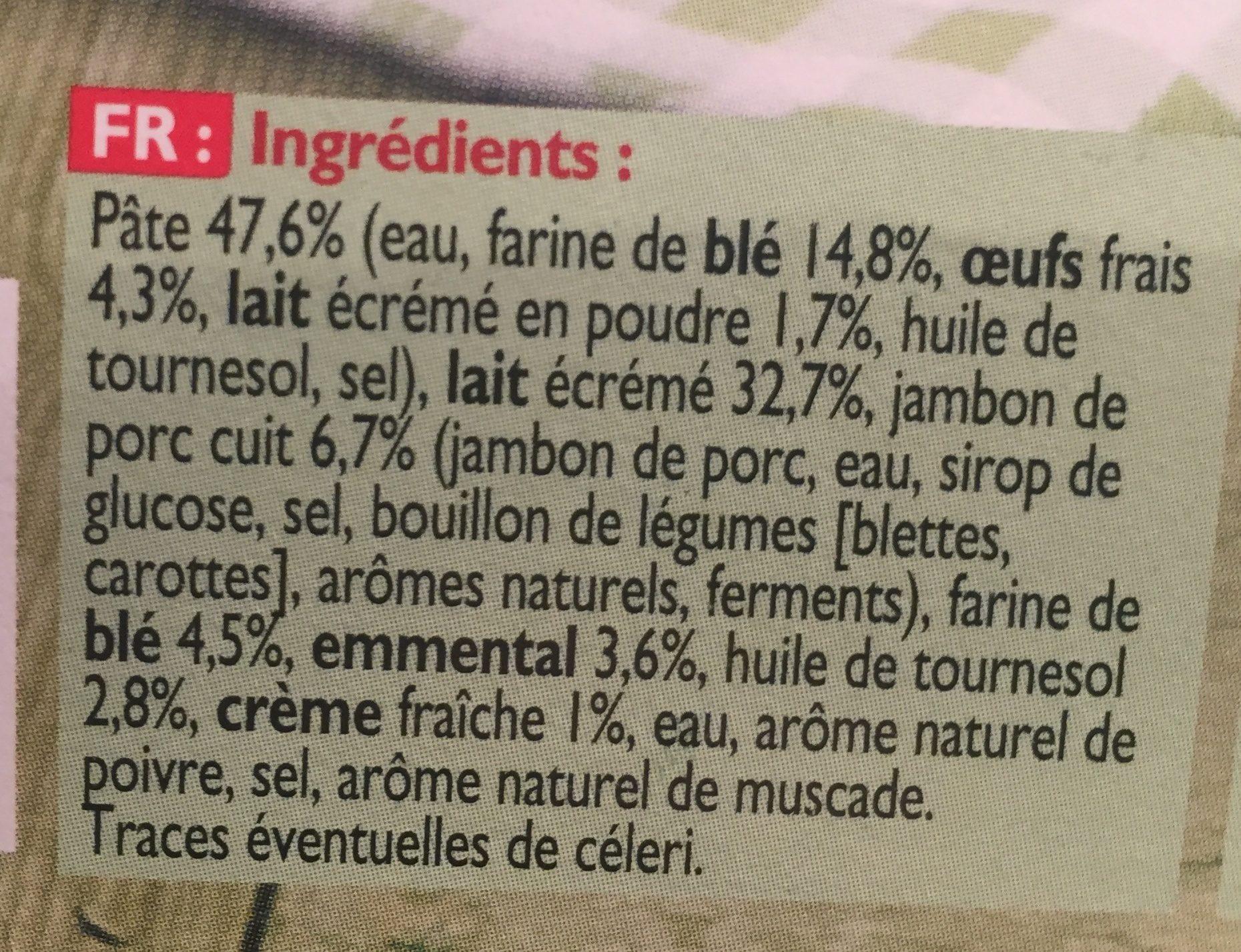 6 crepes roulees jambon et fromages - Ingrédients - fr