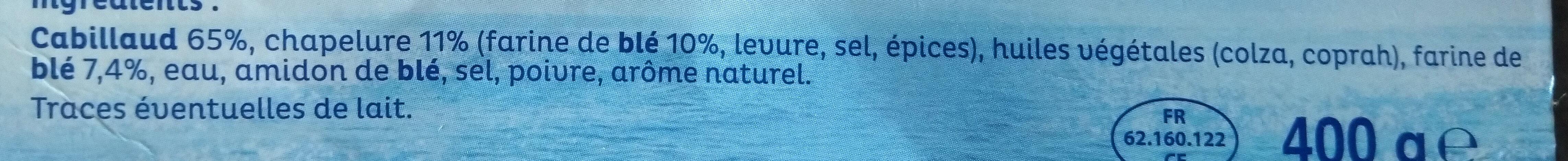 4 filets Cabillaud - Ingrédients - fr
