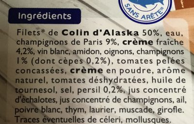 Colin d'Alaska a la Parisienne - Ingredients