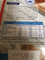 Colin d'Alaska a la Parisienne - Nutrition facts - fr
