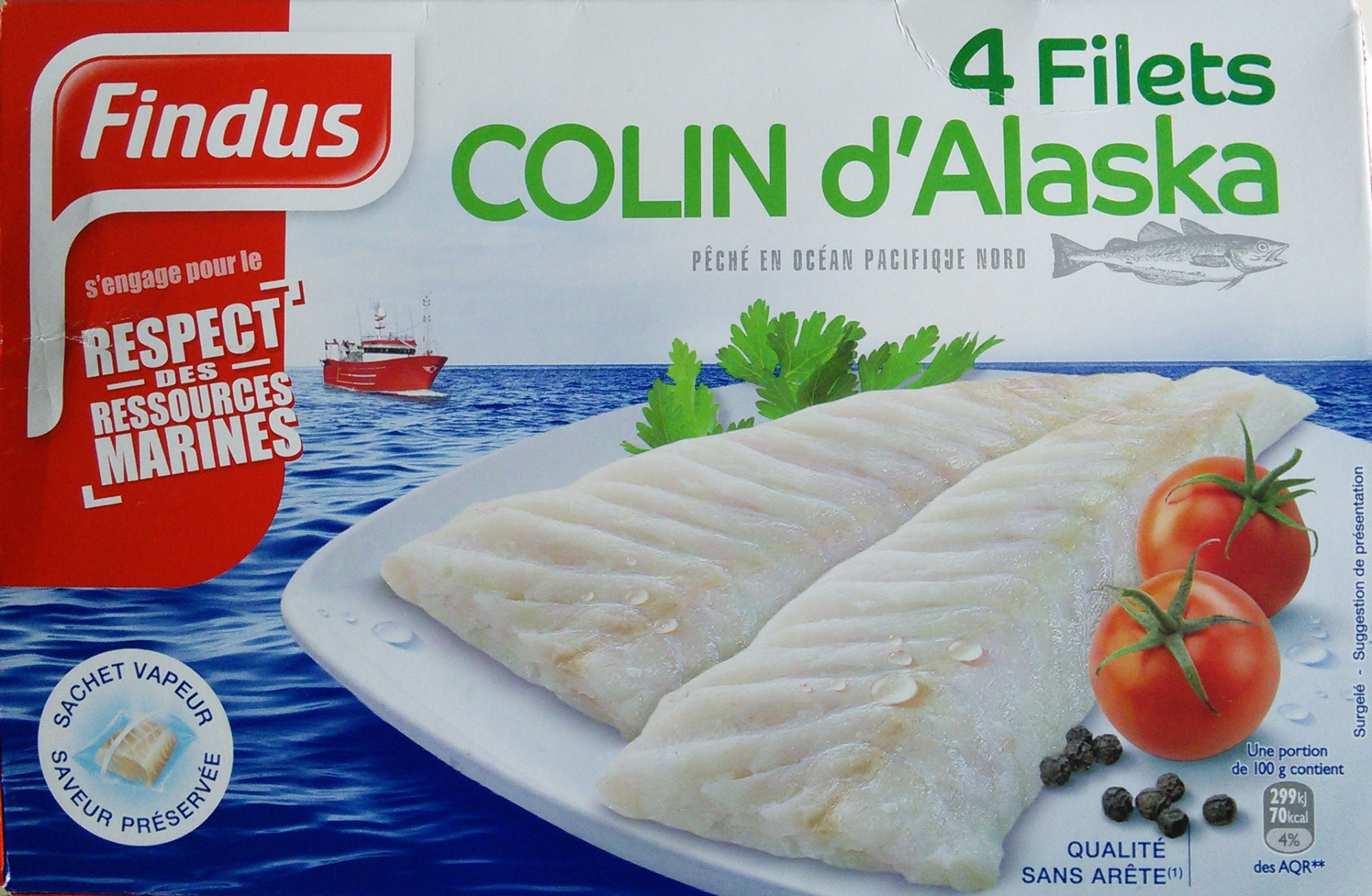 4 filets de colin d 39 alaska findus 400 g - Cuisiner du colin surgele ...