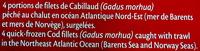 Filets de Cabillaud MSC - Ingrediënten - fr
