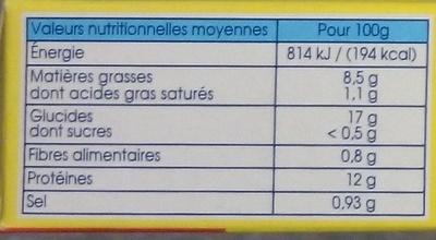 Croustibat Bâtonnet - Informations nutritionnelles
