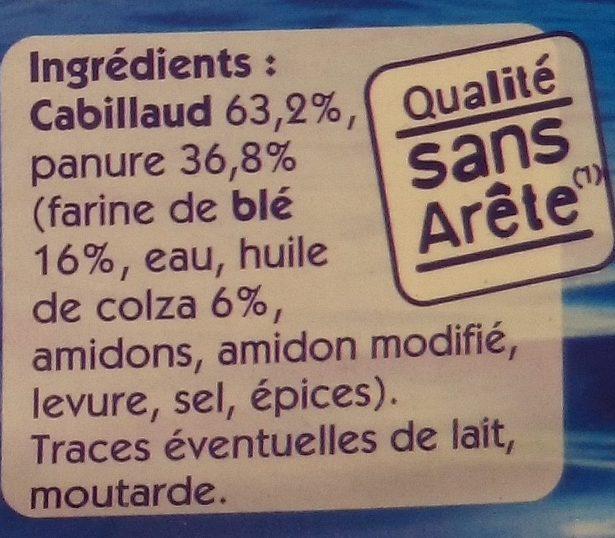 4 Tranches Panées de Cabillaud - Ingredients - fr