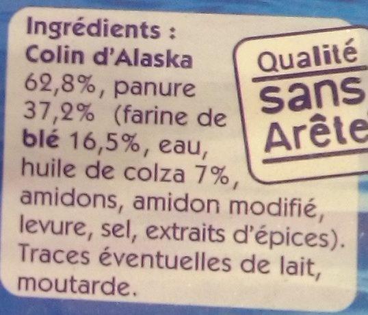 Filets de Colin d'Alaska Panés - Ingrédients - fr