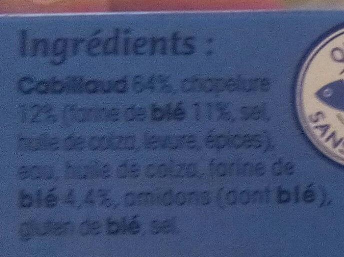100 % filet cabillaud - Ingrédients