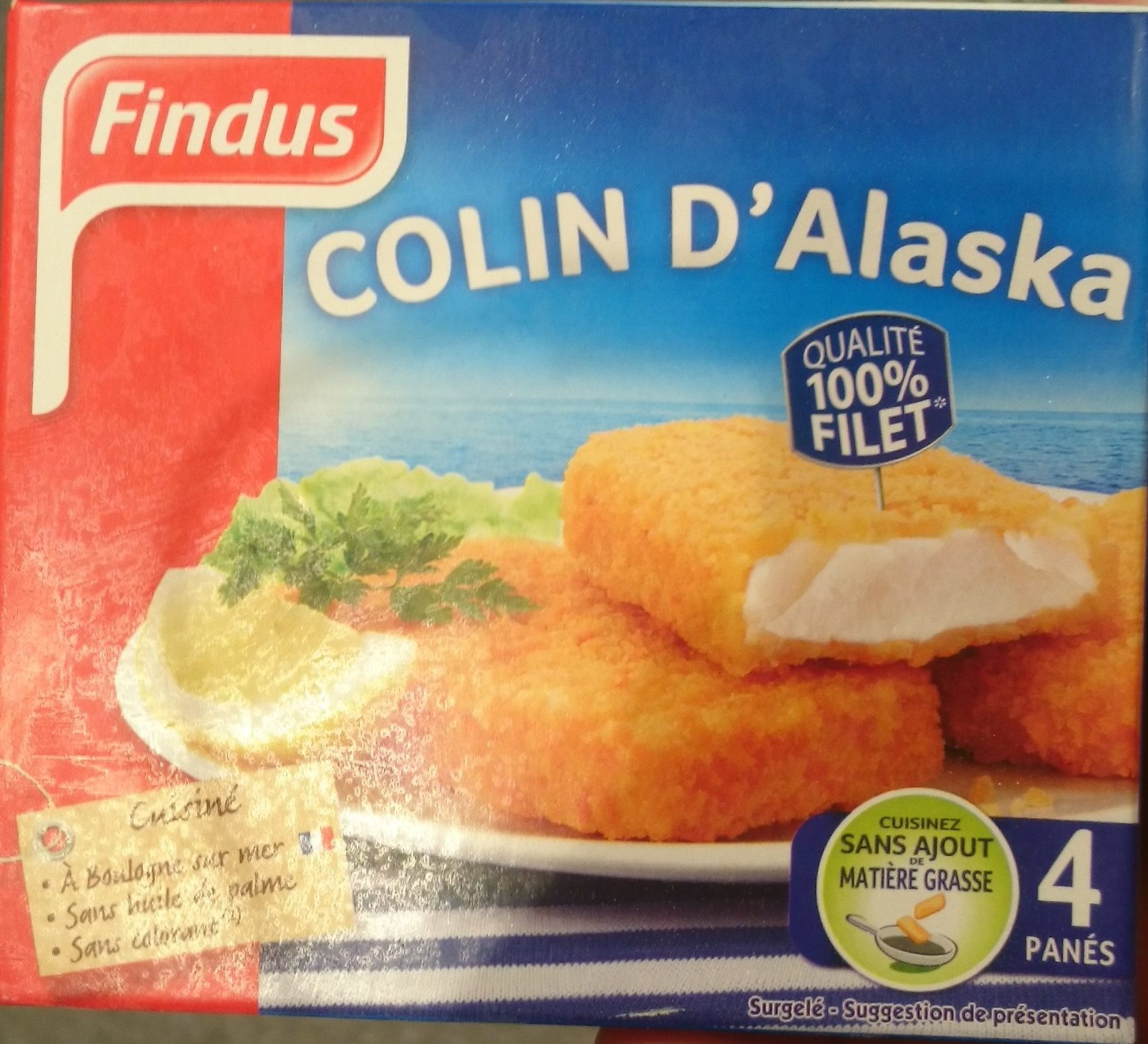 Filets de colin pan s findus 400 g - Cuisiner du colin surgele ...