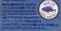 Tranches panées de Merlu blanc MSC - Ingrédients - fr
