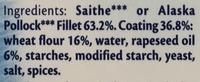 Colin Lieu ou d'Alaska, Surgelés - Ingredients - en
