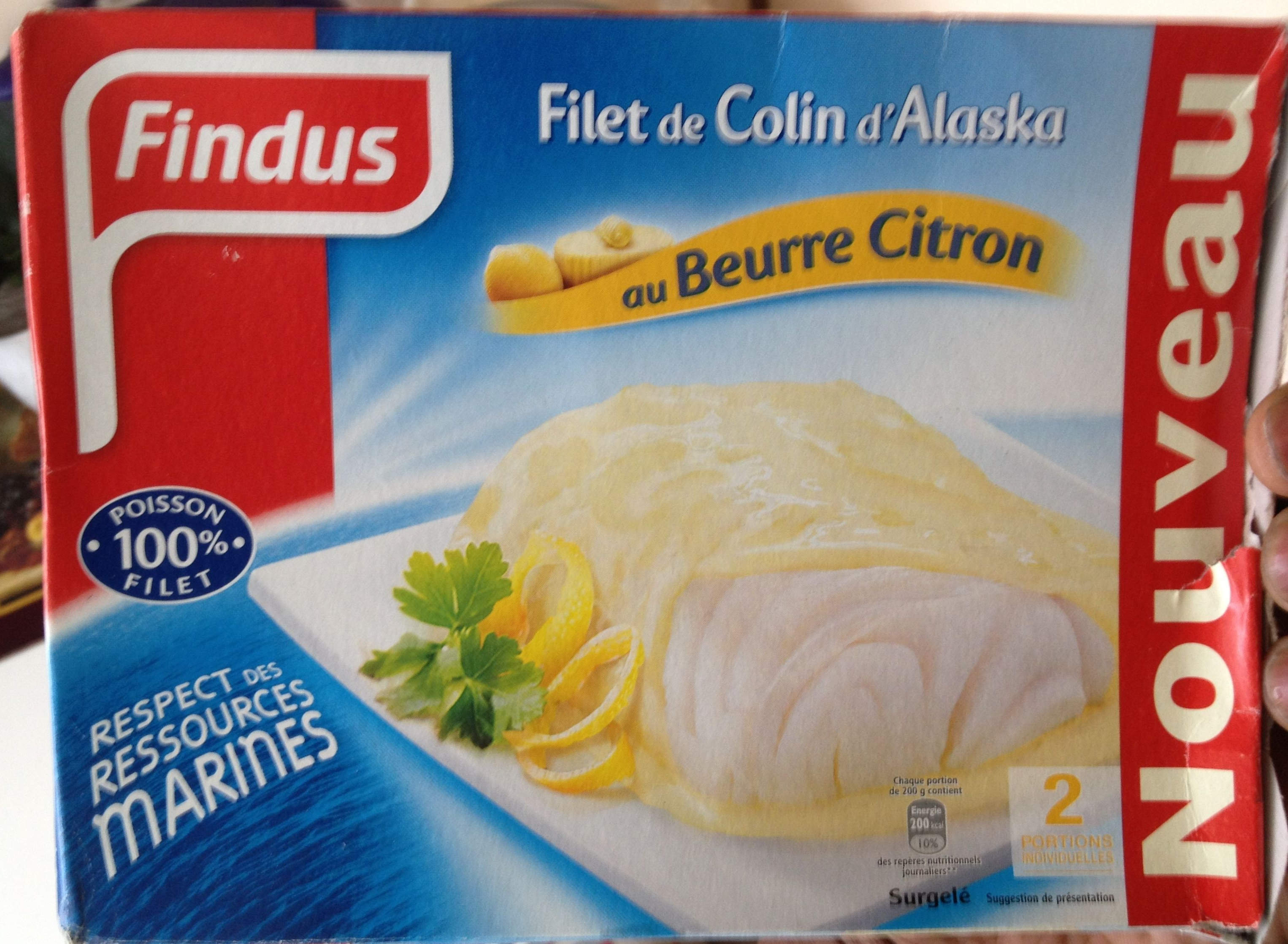 Filet de colin d 39 alaska findus 400 g - Cuisiner du colin surgele ...