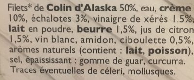 Filet de colin d'Alaska - Ingredientes