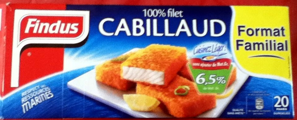 100% filet Cabillaud (format familial) - Product - fr