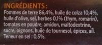 Crousti' Express Extra aux Herbes - Ingrédients